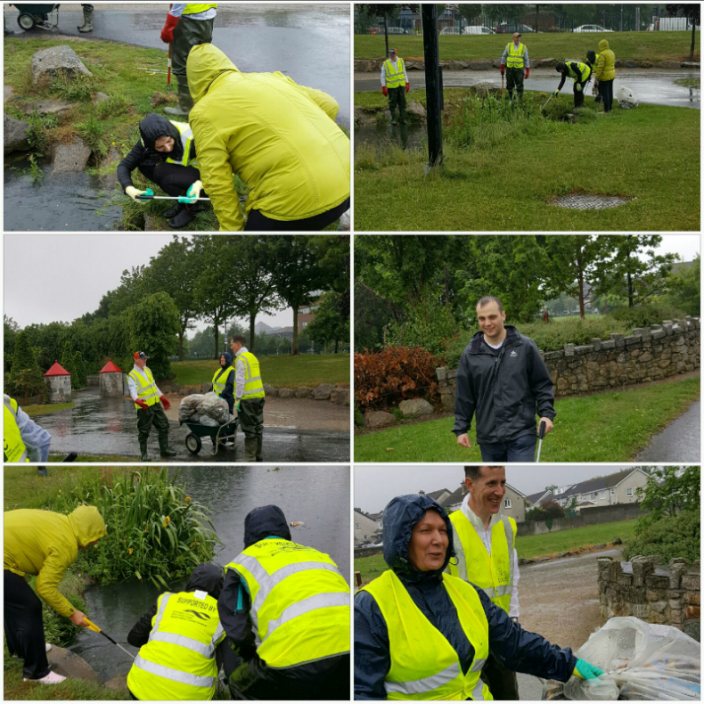 Cleaning up Sean Walsh Park in May 2017